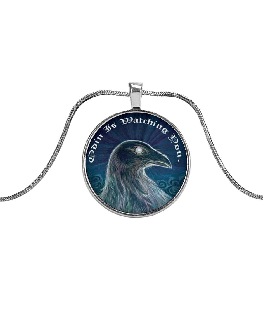 ODIN IS WATCHING YOU Metallic Circle Necklace