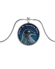 ODIN IS WATCHING YOU Metallic Circle Necklace front