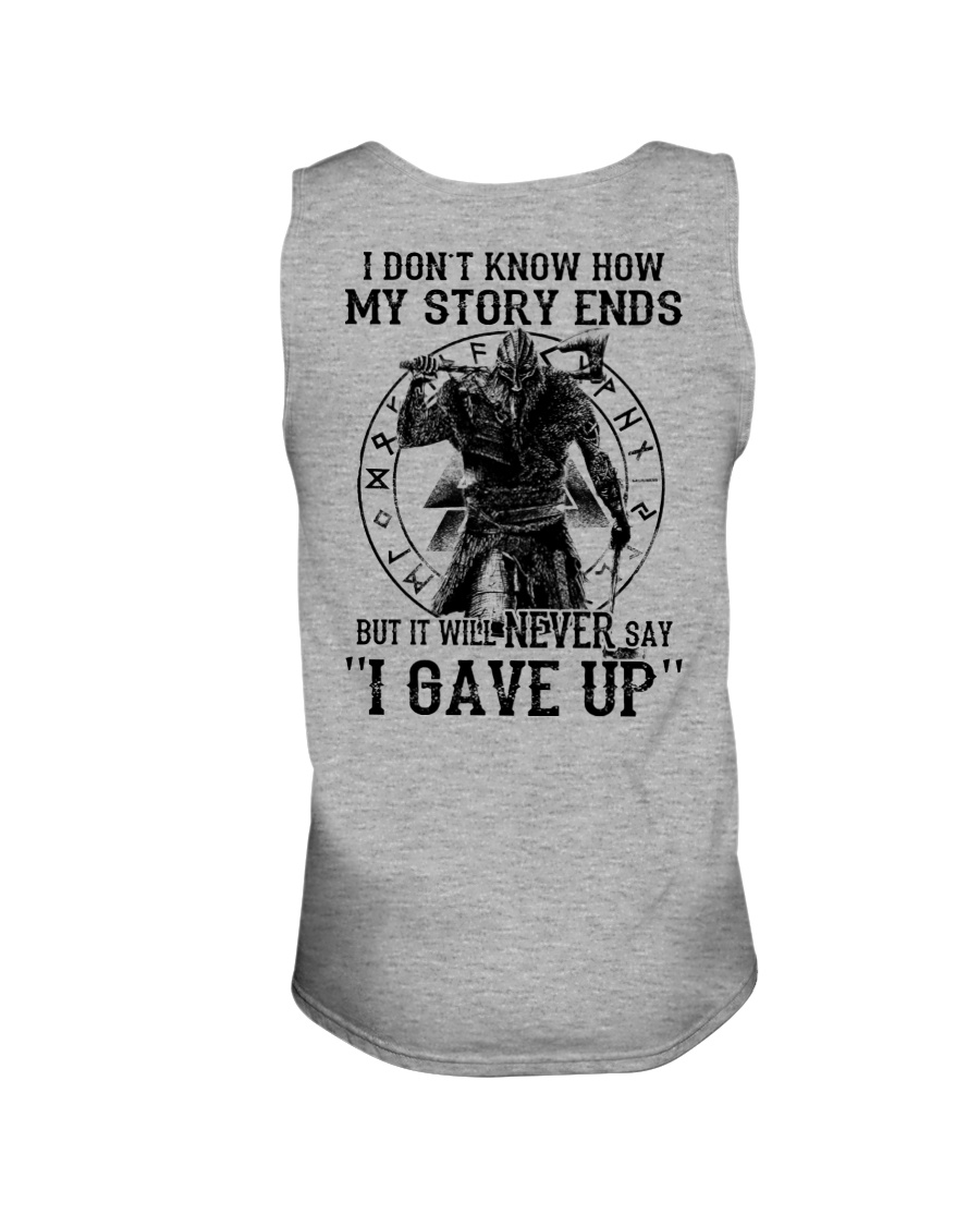 NERVER SAY I GAVE UP - VIKING SHIRT Unisex Tank