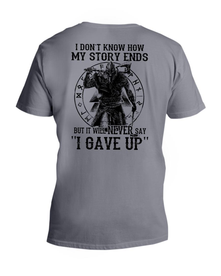 NERVER SAY I GAVE UP - VIKING SHIRT V-Neck T-Shirt