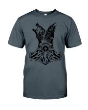 WOLF-RAVE-HAMMER - VIKINGZON Classic T-Shirt thumbnail