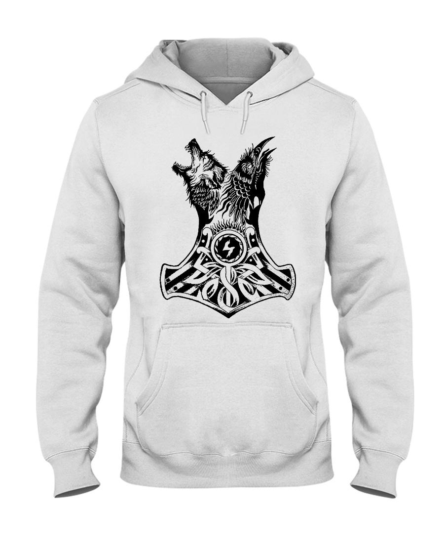 WOLF-RAVE-HAMMER - VIKINGZON Hooded Sweatshirt