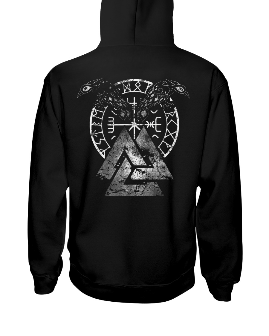 VIKING - Valknut Raven Hooded Sweatshirt