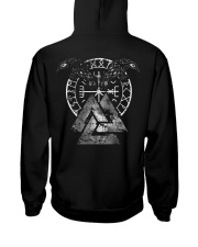VIKING - Valknut Raven Hooded Sweatshirt back