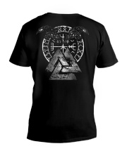 VIKING - Valknut Raven V-Neck T-Shirt tile