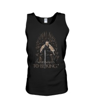 WHO WANTS TO BE KING Unisex Tank thumbnail