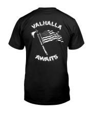 Viking Shirt - Valhalla Awaits Classic T-Shirt back