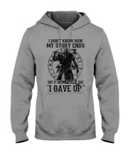 But It Will Never Say I Gave Up - Viking Hooded Sweatshirt thumbnail