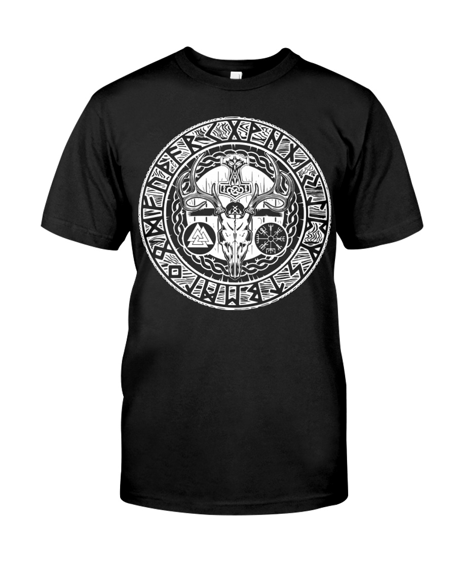 Viking Deer With Rune - Viking Shirt Classic T-Shirt