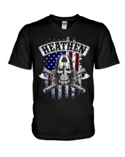 HEATHEN VIKING SHIRT V-Neck T-Shirt thumbnail