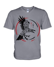 VIKING RAVEN - VIKING SHIRT V-Neck T-Shirt tile