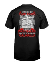 ONE DOES NOT FEAR DEATH - VIKING SHIRT Classic T-Shirt back