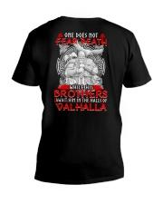 ONE DOES NOT FEAR DEATH - VIKING SHIRT V-Neck T-Shirt thumbnail