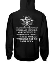 Viking Shirt - I Came Into This World Hooded Sweatshirt back