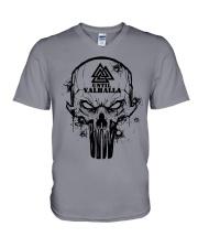 TILL VALHALLA - SKULL VIKING SHIRT V-Neck T-Shirt thumbnail