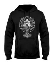 Viking Wolf Hammer Vegvisir  Hooded Sweatshirt thumbnail