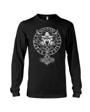 Viking Wolf Hammer Vegvisir  Long Sleeve Tee thumbnail