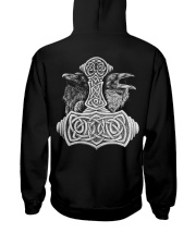 Viking Shirts - Viking Raven And Viking Hammer Hooded Sweatshirt back