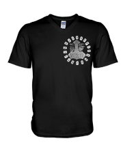Viking Shirts - Viking Raven And Viking Hammer V-Neck T-Shirt thumbnail