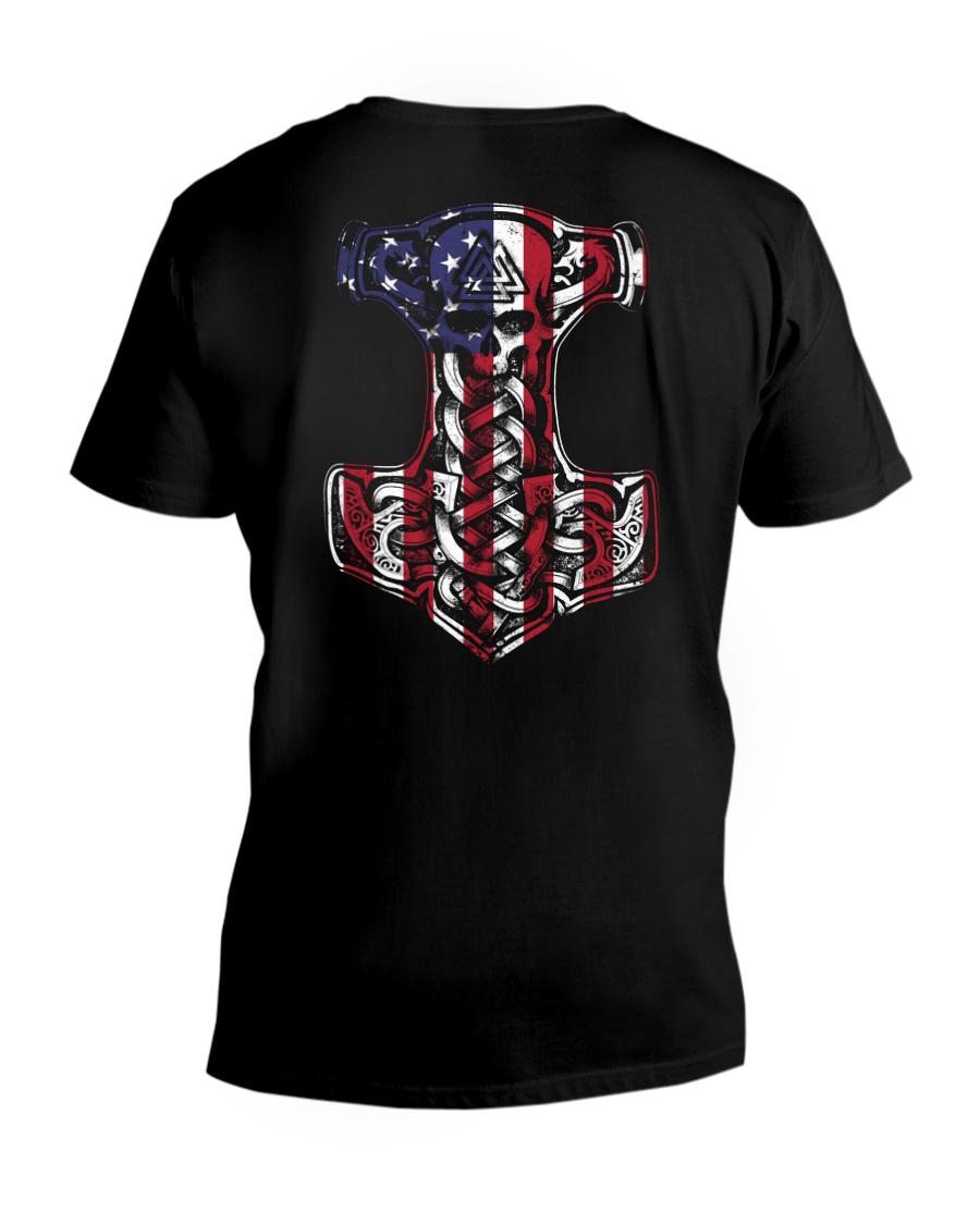 HAMMER FLAG - VIKING SHIRT V-Neck T-Shirt