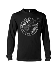 Raven Vegvisir Viking - Viking Shirt For Men Long Sleeve Tee thumbnail
