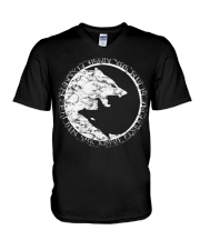 Viking - YingYan Wolf V-Neck T-Shirt thumbnail