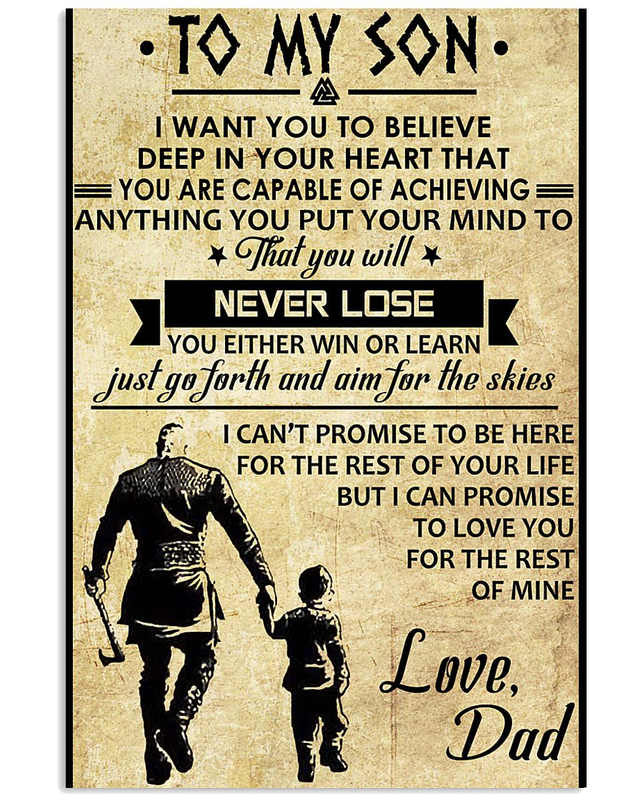 TO MY SON - VIKING SHIRTS 11x17 Poster