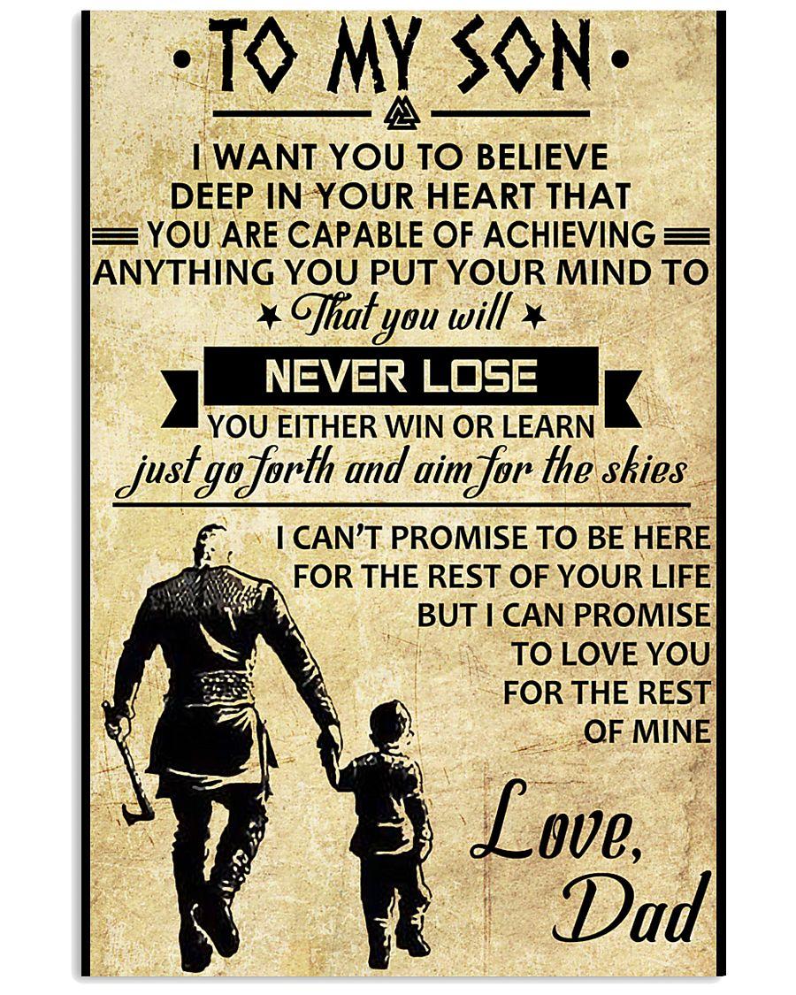 TO MY SON - VIKING SHIRTS 24x36 Poster