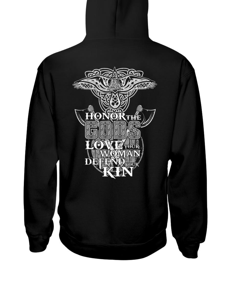 Honor Love Defend - Viking Shirt Hooded Sweatshirt