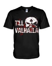 TILL VALHALLA - VIKING V-Neck T-Shirt thumbnail