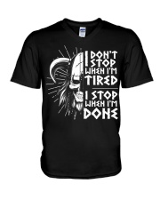 I DON'T STOP WHEN I'M TIRED V-Neck T-Shirt thumbnail
