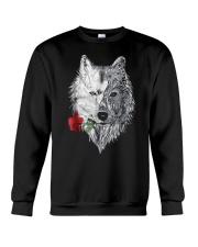 WOLF MANDALA ROSE CANIS LUPUS T SHIRT DESIGN Crewneck Sweatshirt thumbnail