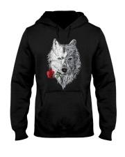 WOLF MANDALA ROSE CANIS LUPUS T SHIRT DESIGN Hooded Sweatshirt thumbnail