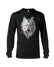 WOLF MANDALA ROSE CANIS LUPUS T SHIRT DESIGN Long Sleeve Tee thumbnail