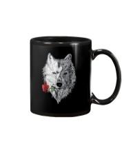 WOLF MANDALA ROSE CANIS LUPUS T SHIRT DESIGN Mug thumbnail