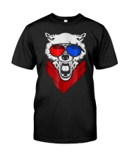 WOLF LED SOUND ACTIVATED GLOW LIGHT UP T SHIRT Classic T-Shirt front