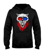 WOLF LED SOUND ACTIVATED GLOW LIGHT UP T SHIRT Hooded Sweatshirt thumbnail