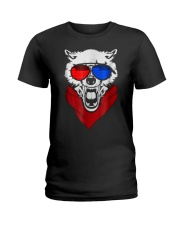 WOLF LED SOUND ACTIVATED GLOW LIGHT UP T SHIRT Ladies T-Shirt thumbnail