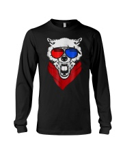 WOLF LED SOUND ACTIVATED GLOW LIGHT UP T SHIRT Long Sleeve Tee thumbnail