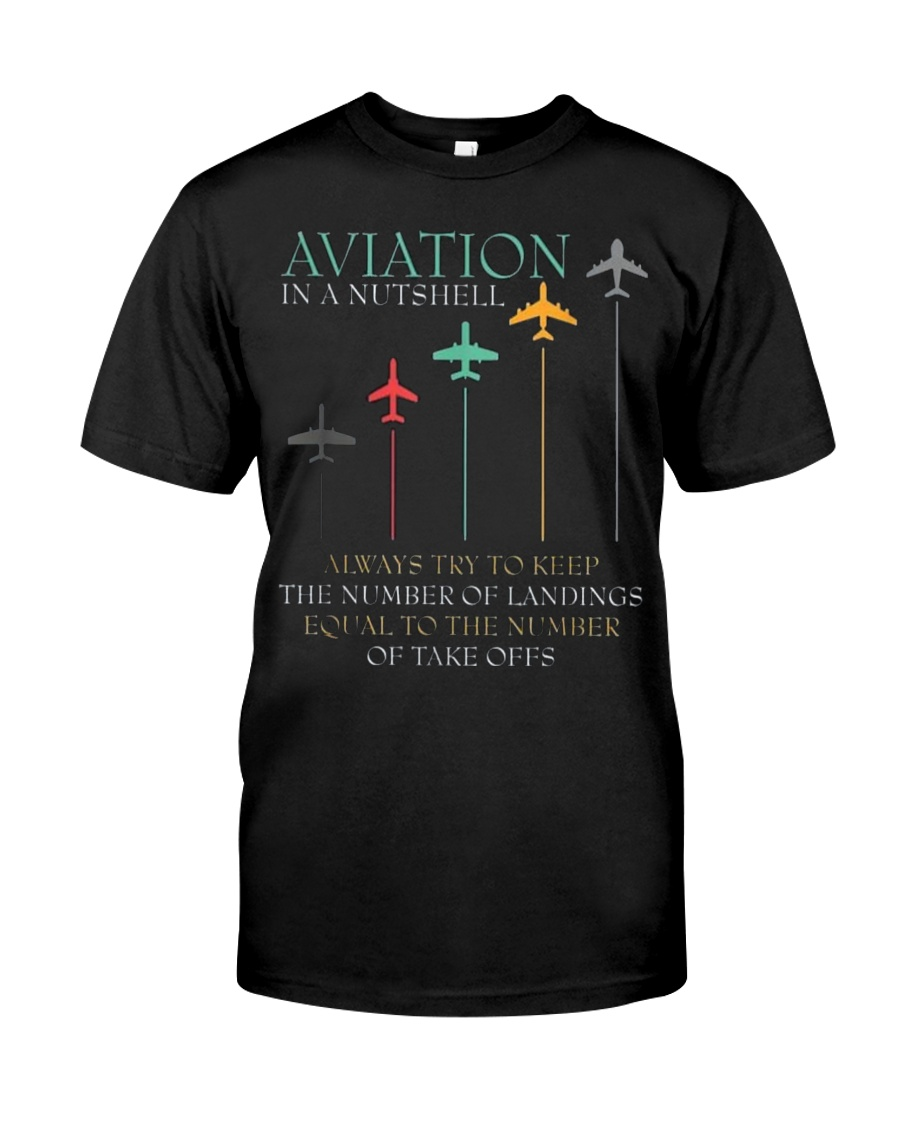 FUNNY PILOT AVIATION IN A NUTSHELL GIFT Classic T-Shirt