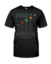 FUNNY PILOT AVIATION IN A NUTSHELL GIFT Classic T-Shirt front