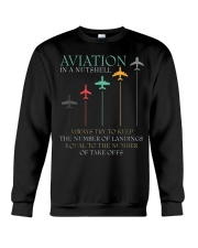 FUNNY PILOT AVIATION IN A NUTSHELL GIFT Crewneck Sweatshirt thumbnail