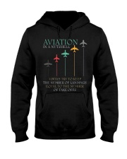 FUNNY PILOT AVIATION IN A NUTSHELL GIFT Hooded Sweatshirt thumbnail