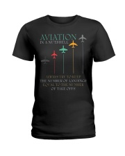 FUNNY PILOT AVIATION IN A NUTSHELL GIFT Ladies T-Shirt thumbnail