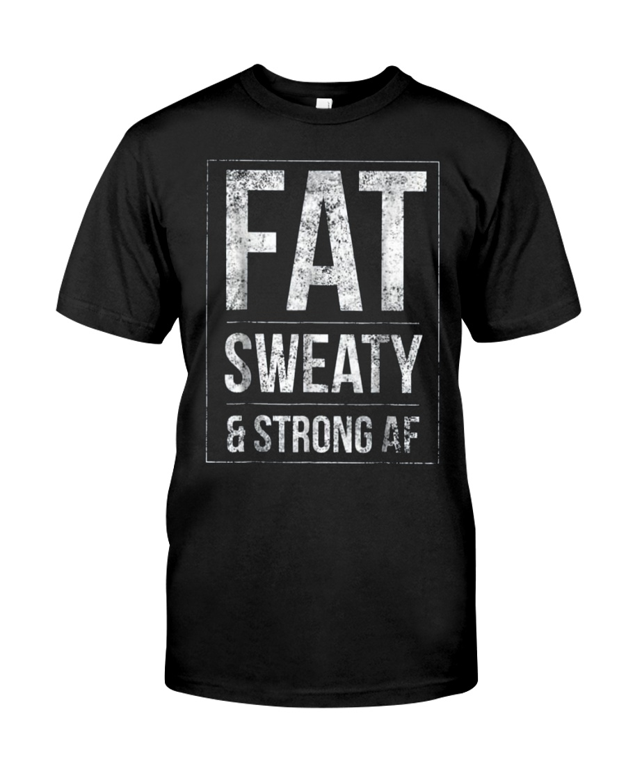 FUNNY POWERLIFTER FAT STRONGMAN POWERLIFTING STRON Classic T-Shirt