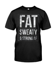 FUNNY POWERLIFTER FAT STRONGMAN POWERLIFTING STRON Classic T-Shirt front
