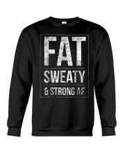 FUNNY POWERLIFTER FAT STRONGMAN POWERLIFTING STRON Crewneck Sweatshirt thumbnail
