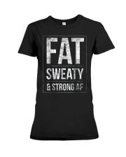 FUNNY POWERLIFTER FAT STRONGMAN POWERLIFTING STRON Premium Fit Ladies Tee thumbnail