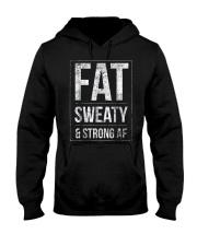 FUNNY POWERLIFTER FAT STRONGMAN POWERLIFTING STRON Hooded Sweatshirt thumbnail