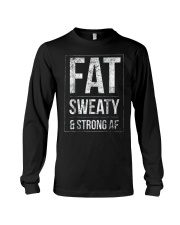 FUNNY POWERLIFTER FAT STRONGMAN POWERLIFTING STRON Long Sleeve Tee thumbnail